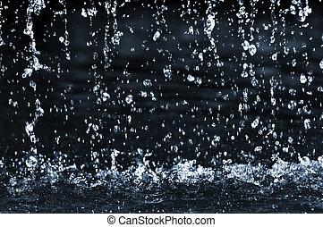 vand, fald