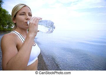 vand, frisk, nydelse