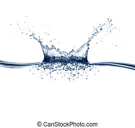 vand, plaske