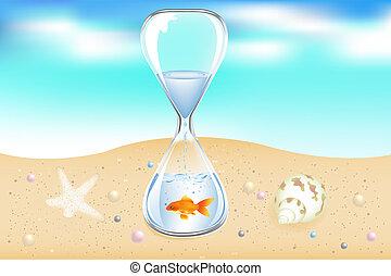 vand, seaside, stueur