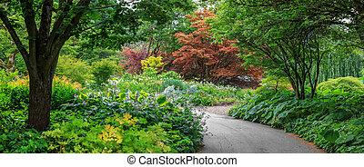 Vandusen botanical gardens in Vancouver city