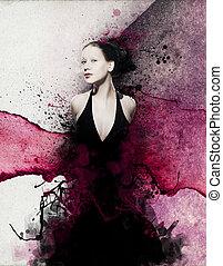 vanguardia, moda, retrato