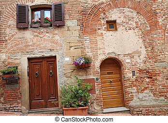 vani porta, case, toscano, pittoresco