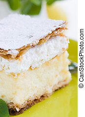 vanilla and custard cream cake dessert