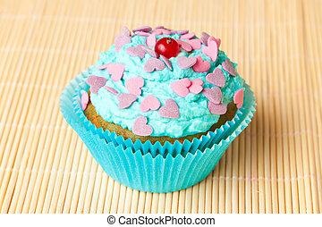 cake with mint cream
