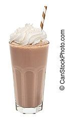 vanilla chocolate milkshake