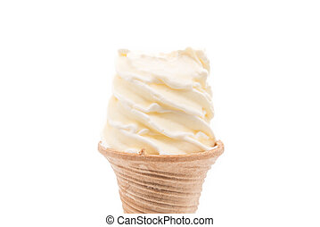 vanilla ice-cream cone