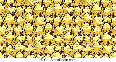 vanilla ice cream cones