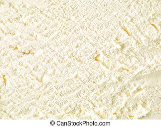 vanilla ice cream texture