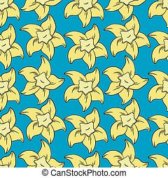 vanilla seamless pattern in cartoon style