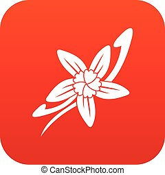 Vanilla sticks with a flower icon digital red
