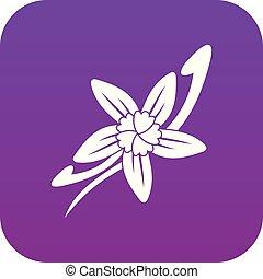 Vanilla sticks with a flower icon digital purple