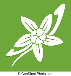 Vanilla sticks with a flower icon green