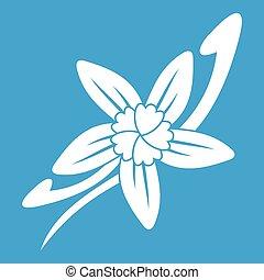 Vanilla sticks with a flower icon white