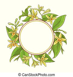 vanilla vector frame - vanilla branches vector frame on ...