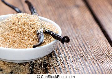 vanille, (brown), sucre