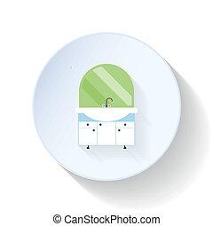 Vanity top flat icon