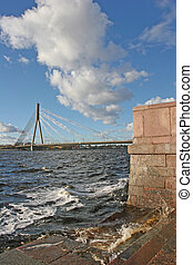 Vansu tilts - Cable bridge (Riga, Latvia)