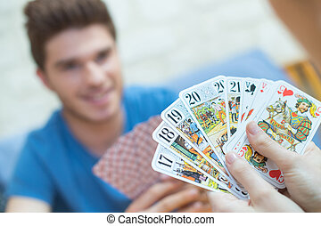 vantage point in card game