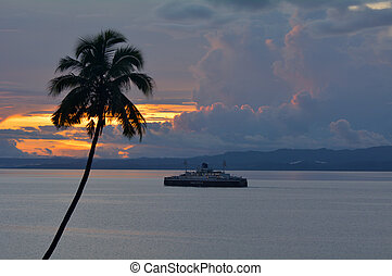 vanua, isola,  Levu, traghetto, seppellire, Figi