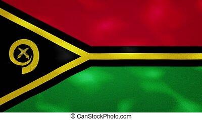 Vanuatu dense flag fabric wavers, perfect loop for background