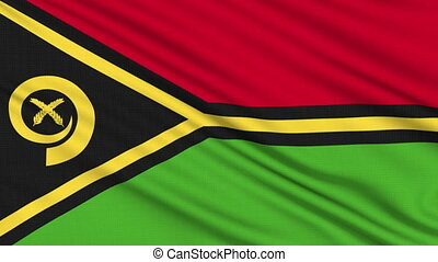 Vanuatu Flag, with real structure of a fabric