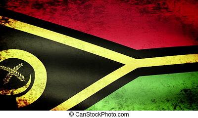 Vanuatu Flag Waving, grunge look