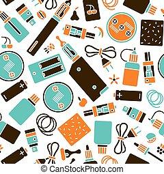 vape, bolt, seamless, motívum, alatt, lakás, mód