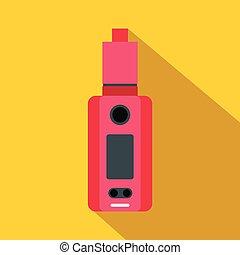 Vape device icon, flat style