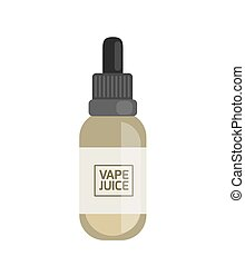 Vape juice for smoking machine. Vaping electronic vaporizer. Alternative smoking. Vaping new culture vector sign. electronic cigarette