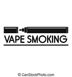 Vape smoking logo, simple style - Vape smoking logo. Simple...