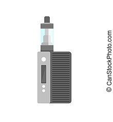 Vape smoking machine. Vaping electronic vaporizer. Alternative smoking. Vaping new culture vector sign. electronic cigarette