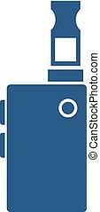 Vape vector icon isolated on white background