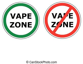 vape zone sign