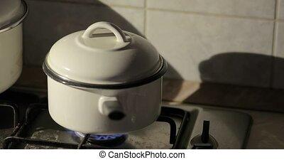 vapeur, cuisant casier