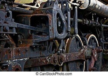 vapeur, vieilli, locomotive