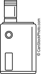 Vaping box icon, outline style