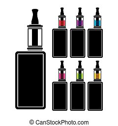 vaping device - colorful liquid - suitable for illustrations