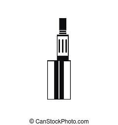 Vaping device icon, simple style