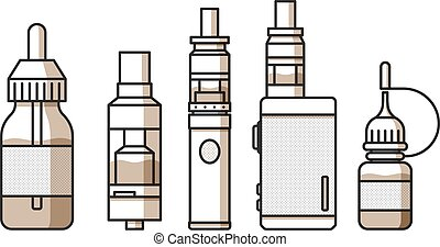 Vaping icons collection