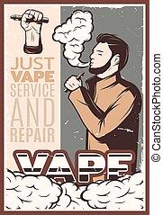 Vaping Vintage Poster