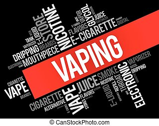 Vaping word cloud collage, concept background