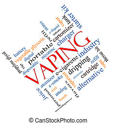 Vaping Word Cloud Concept Angled - Vaping Word Cloud Concept...