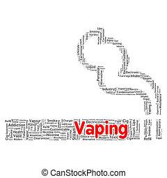 Vaping word cloud concept