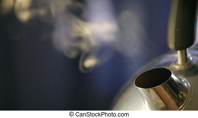 boiling kettle vapor abstract background