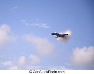 Vapor Cloud - Airshow San Antonio TX Nov. 7, 2009: F18...