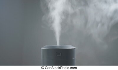 Vapor coming from electric air humidifier.