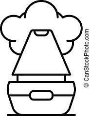 Vapor humidifier icon, outline style - Vapor humidifier...