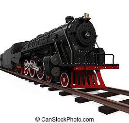 vapor, locomotiva, trem
