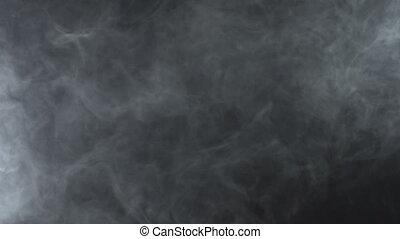 Vapor mist of smoke machine, 4k - White smoky cloud of...